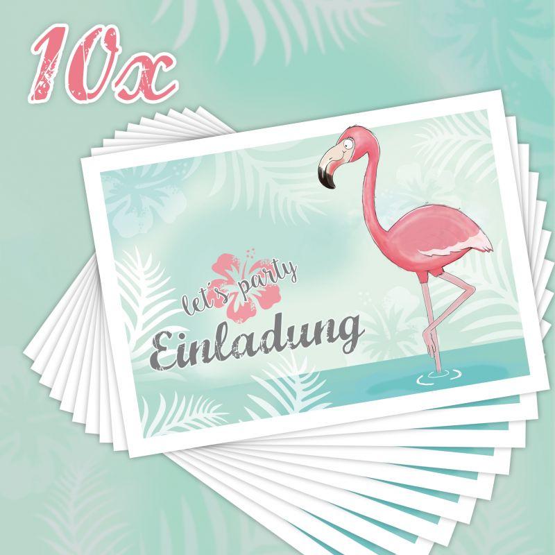einladungen zum kindergeburtstag flamingo - emufarm, Einladung