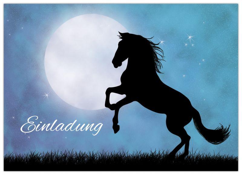 einladungskarten kindergeburtstag pferde – ledeclairage, Einladungsentwurf