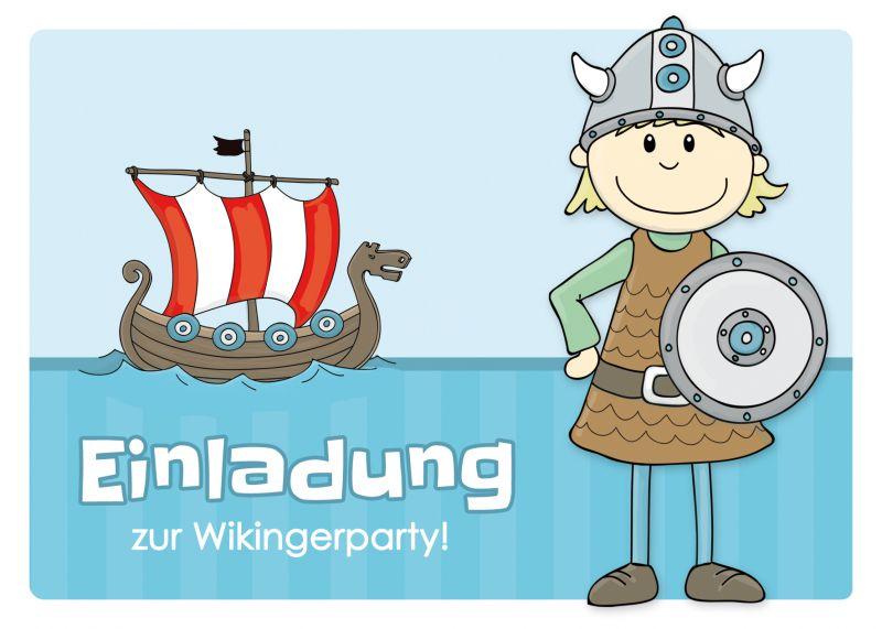"""einladungen zum kindergeburtstag """"wikinger"""" - emufarm, Einladungen"""