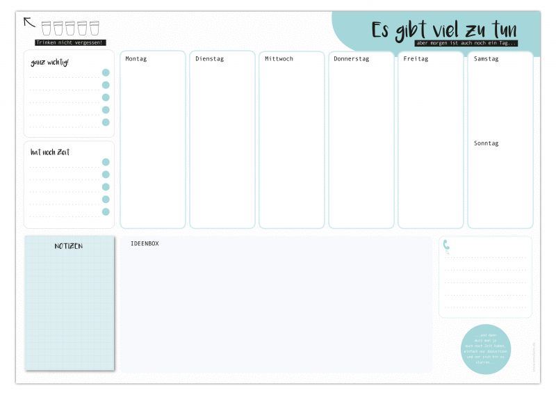 wwwmalvorlagen bilderde wochenplan  zeichnen und färben