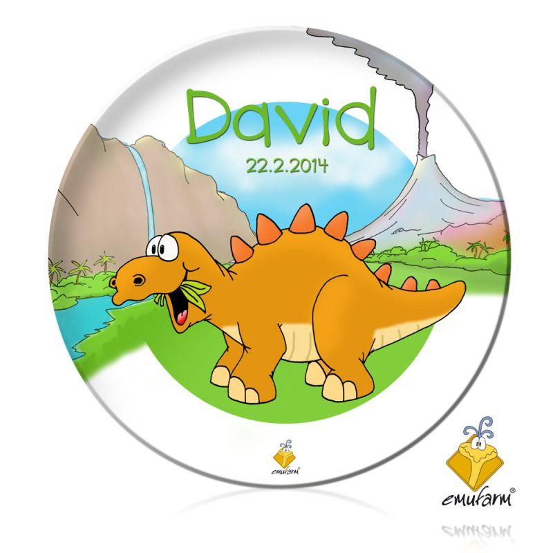 Kinderteller Mit Namen Dinos Emufarm