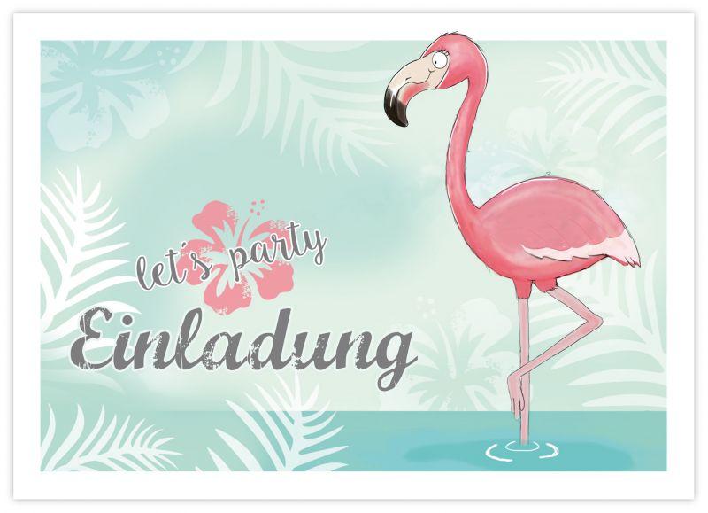 einladungen zum kindergeburtstag flamingo - emufarm, Einladungen