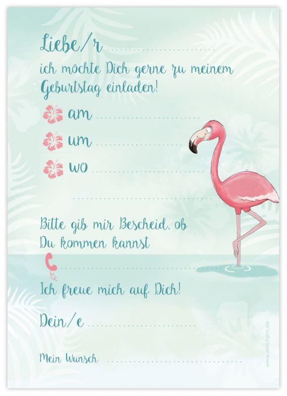 """einladungen zum kindergeburtstag """"einhorn"""" - emufarm"""